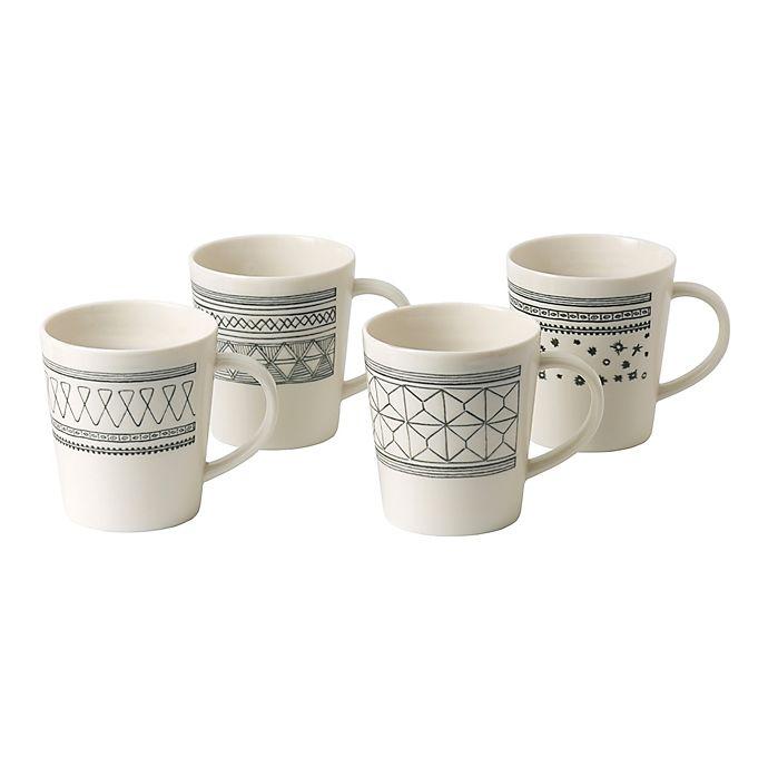 Alternate image 1 for ED Ellen DeGeneres Crafted by Royal Doulton® Grey Lines Mugs Set of 4)