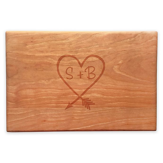 Alternate image 1 for Susquehanna Glass Carved Heart Artisan Cherry Board