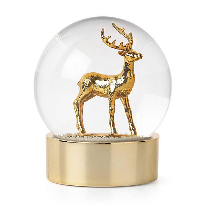 lenox golden reindeer snowglobe bed bath beyond. Black Bedroom Furniture Sets. Home Design Ideas