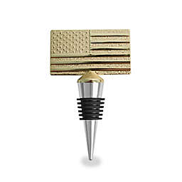 Wild Eye Designs USA Flags Wine Stopper in Gold