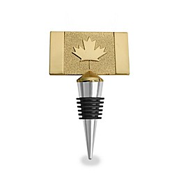 Wild Eye Designs Canada Flags Wine Stopper in Gold