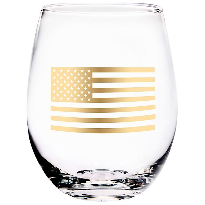 Alternate image 1 for Home Essentials & Beyond USA Flag Stemless Wine Glass