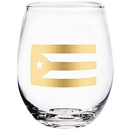 Home Essentials & Beyond Puerto Rico Flag Stemless Wine Glass