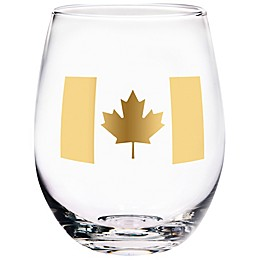 Home Essentials & Beyond Canada Flag Stemless Wine Glass