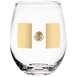 Home Essentials & Beyond Mexico Flag Stemless Wine Glass