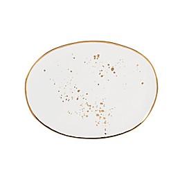 Olivia & Oliver™ Harper Splatter Organic Shape Gold 13-Inch Oblong Platter