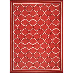 Safavieh Courtyard 9-Foot x 12-Foot Remi Indoor/Outdoor Rug in Red/Beige