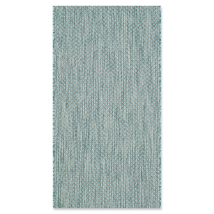 Alternate image 1 for Safavieh Courtyard 2-Foot x 3-Foot 7-Inch Wynter Indoor/Outdoor Rug in Aqua/Grey