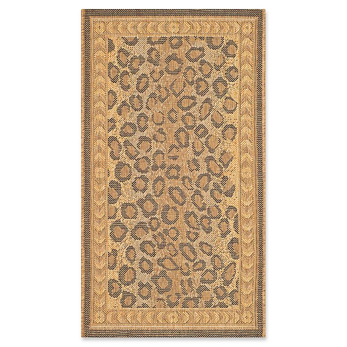 Alternate image 1 for Safavieh Courtyard 2-Foot x 3-Foot 7-Inch Nadia Indoor/Outdoor Rug in Natural/Gold