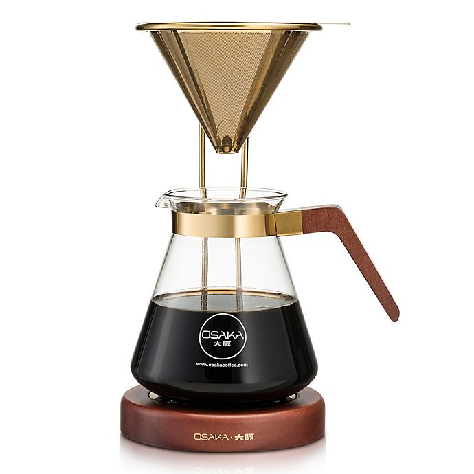 Alternate image 1 for Osaka Gold Pour-Over Coffee Dripper with Stand