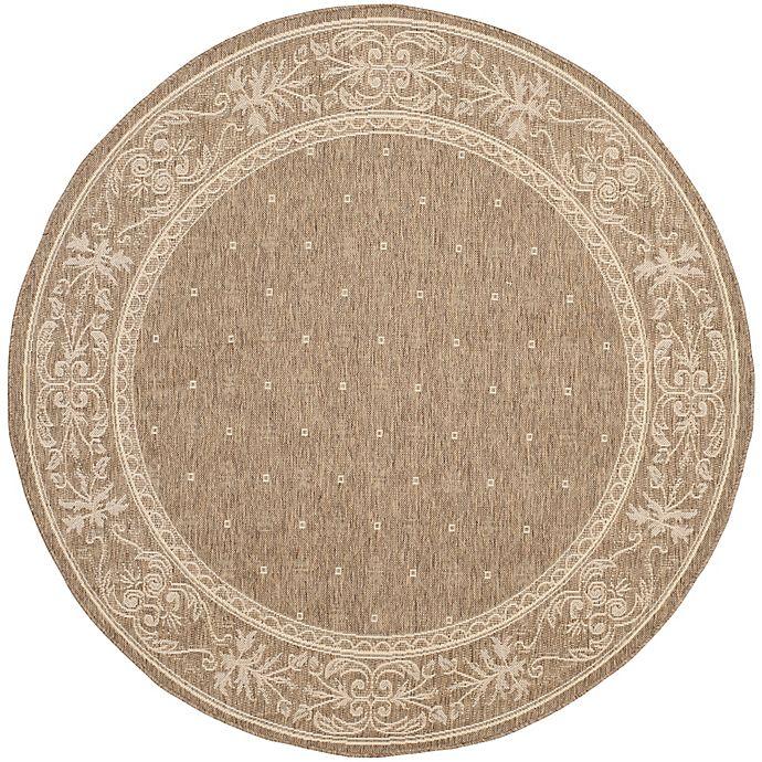 Alternate image 1 for Safavieh Courtyard 7-Foot 10-Inch x 7-Foot 10-inch Alyssa Indoor/Outdoor Rug in Brown/Natural