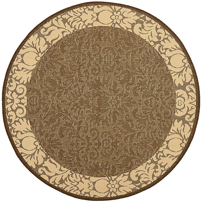 Alternate image 1 for Safavieh Courtyard 6-Foot 7-Inch x 6-Foot 7-Inch Amy Indoor/Outdoor Rug in Chocolate/Natural