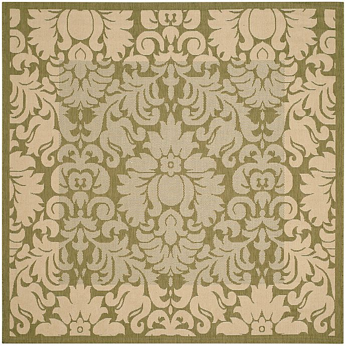 Alternate image 1 for Safavieh Courtyard 7-Foot 10-Inch x 7-Foot 10-inch Amy Indoor/Outdoor Rug in Olive/Natural