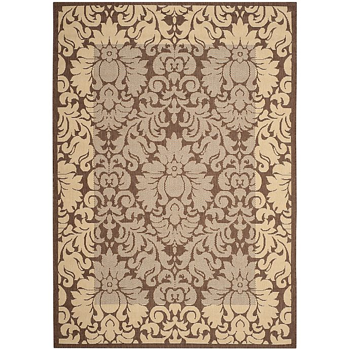Alternate image 1 for Safavieh Courtyard 9-Foot x 12-Foot Amy Indoor/Outdoor Rug in Chocolate/Natural