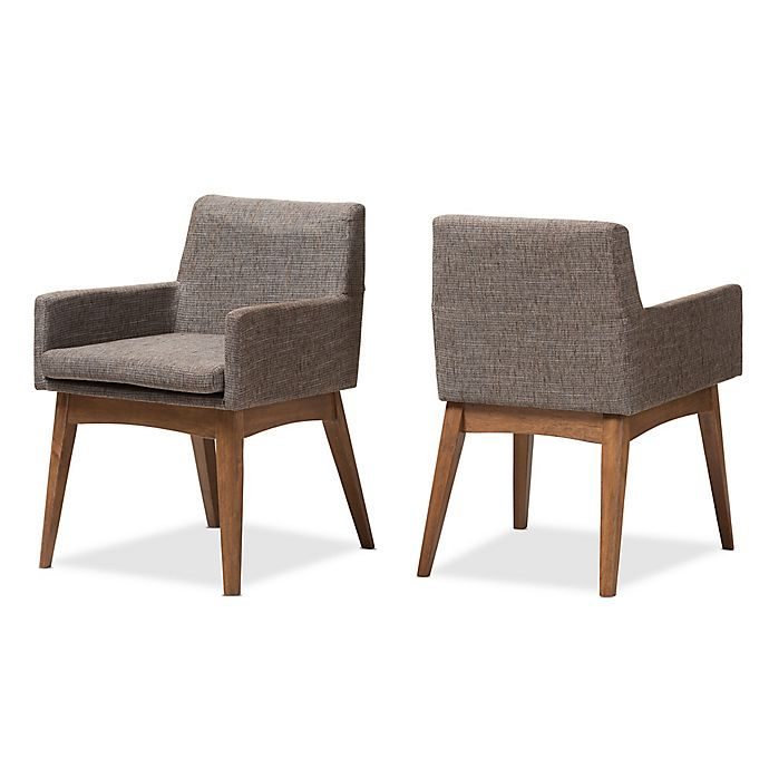 Alternate image 1 for Baxton Studio Nexus Dining Arm Chair in Brown (Set of 2)