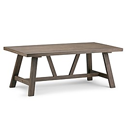 Simpli Home Dylan Coffee Table with Driftwood Finish