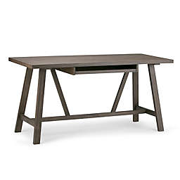 Simpli Home Dylan Desk with Driftwood Finish