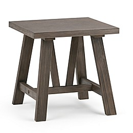 Simpli Home Dylan End Table with Driftwood Finish