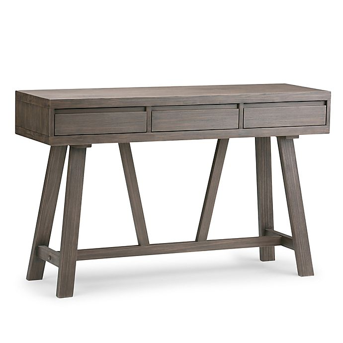 Alternate image 1 for Simpli Home Dylan Hallway Console Table with Driftwood Finish