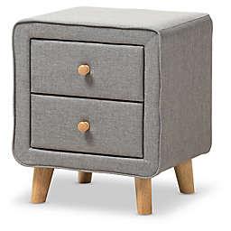 Baxton Studio Jonesy Upholstered 2-Drawer Nightstand