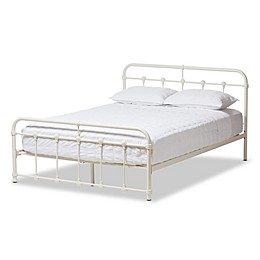 Baxton Studio Mandy Metal Platform Bed