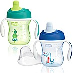 Chicco® NaturalFit® 2-Pack Semi-soft Spout 7 oz. Trainer Cup in Blue/Green