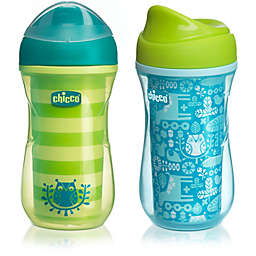 Chicco® NaturalFit® 2-Pack 9 oz. Insulated Rim-Spout Trainer Cup in Teal/Green