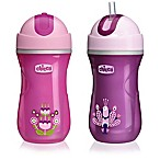 Chicco® NaturalFit® 2-Pack Insulated Flip Top 9 oz. Straw Cup in Pink/Purple