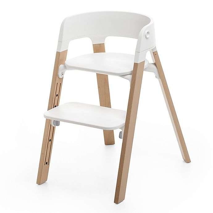 Alternate image 1 for Stokke® Steps™ Chair in Natural Legs/White Seat