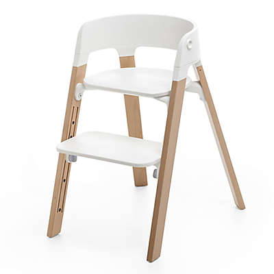 Stokke® Steps™ Chair in Natural Legs/White Seat