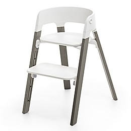 Stokke® Steps™ Chair in Grey Legs/White Seat