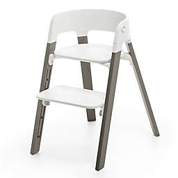 Stokke® Steps™ Chair with Grey Legs and White Seat