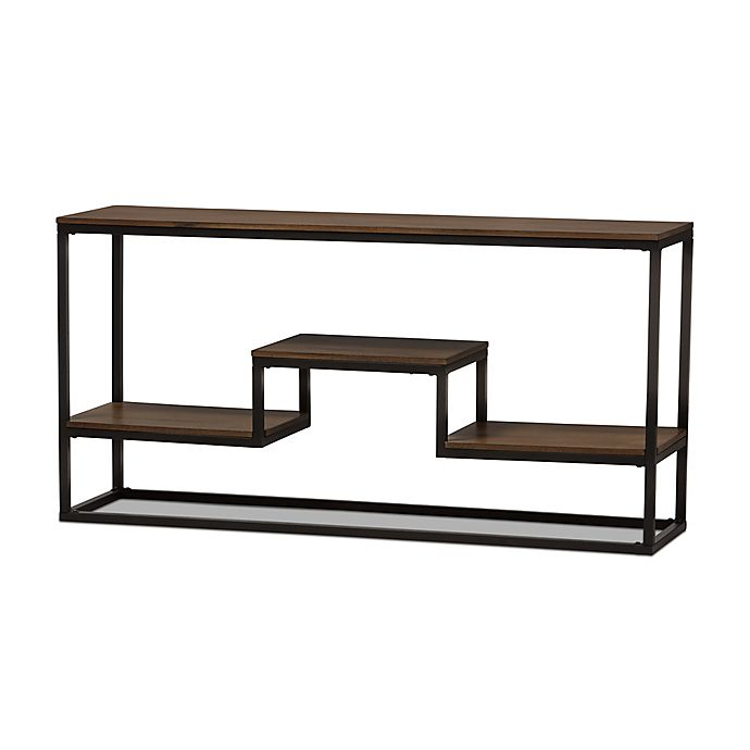Alternate image 1 for Baxton Studio Doreen Console Table in Brown/Black