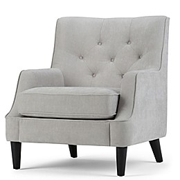 Grange Tufted Club Chair in Light Dove Grey