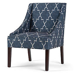 Simpli Home Hayworth Accent Chair in Cobalt Blue