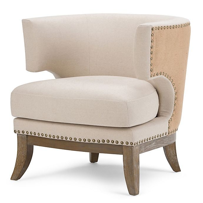 Alternate image 1 for Simpli Home Hoffman Accent Chair in Natural