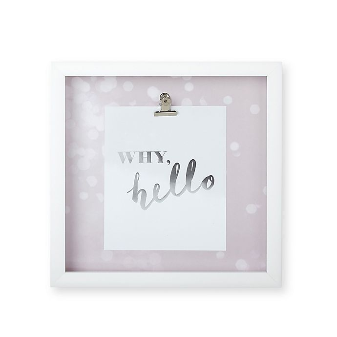 Umbra 174 Motto Quot Why Hello Quot Shadow Box Wall Art In Pink
