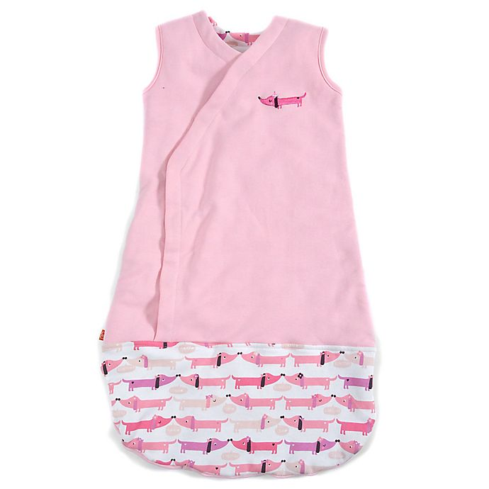 Alternate image 1 for Magnetic Me by Magnificent Baby® Size 6-12M Dogs Magnetic Wearable Blanket in Pink