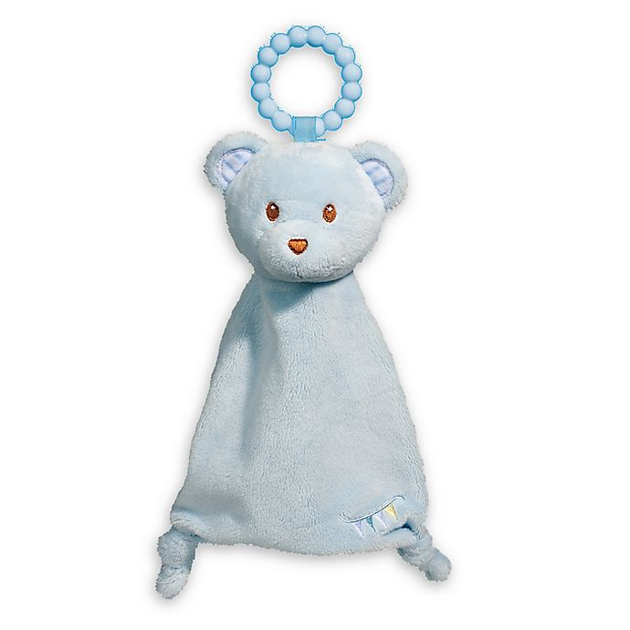 Alternate image 1 for Blue Bear Lil' Sshlumpie Teether Blankie