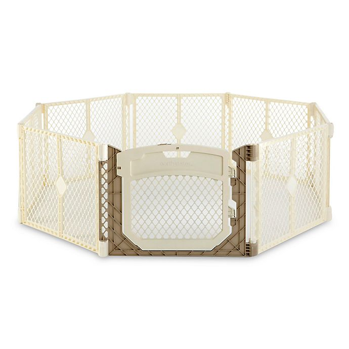 Alternate image 1 for Toddleroo by North States® 8-Panel Superyard Ultimate® in Ivory