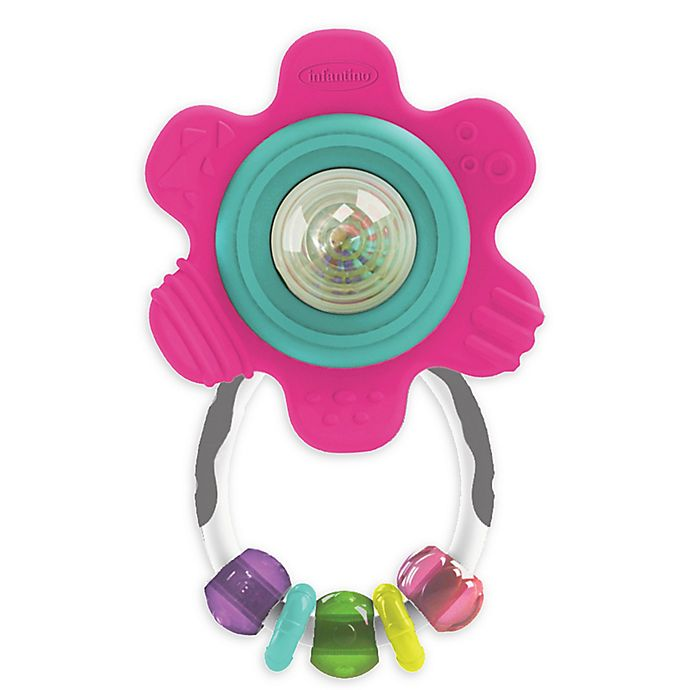 Alternate image 1 for Infantino® Spin and Teethe Gummy Flower Rattle
