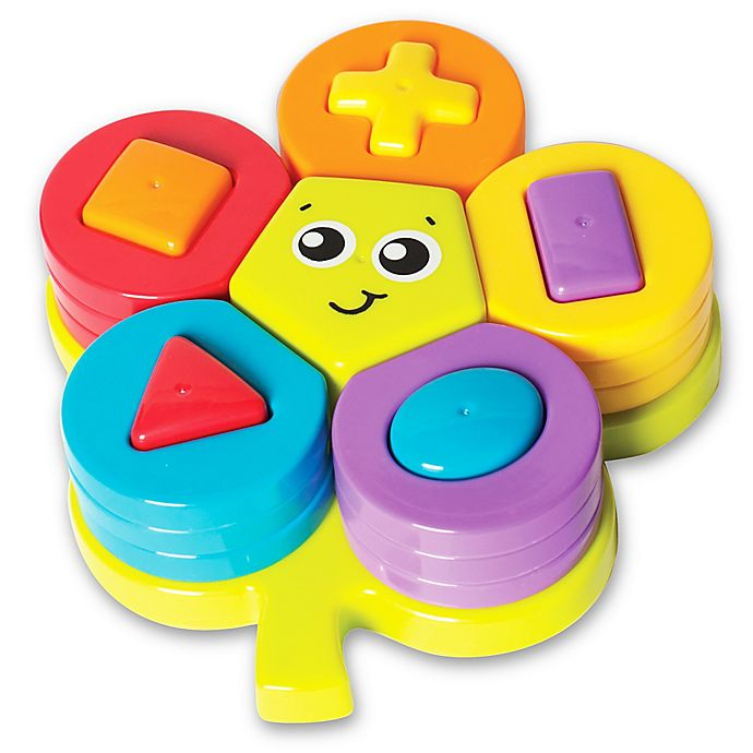 Alternate image 1 for Playgro™ 22-Piece Shape Sorting Flower Puzzle