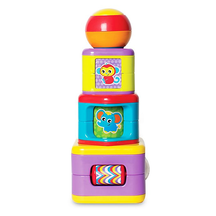 Alternate image 1 for Playgro™ 4-Piece Stacking Activity Tower