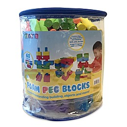Verdes 60-Piece  Foam Peg Building Block Set