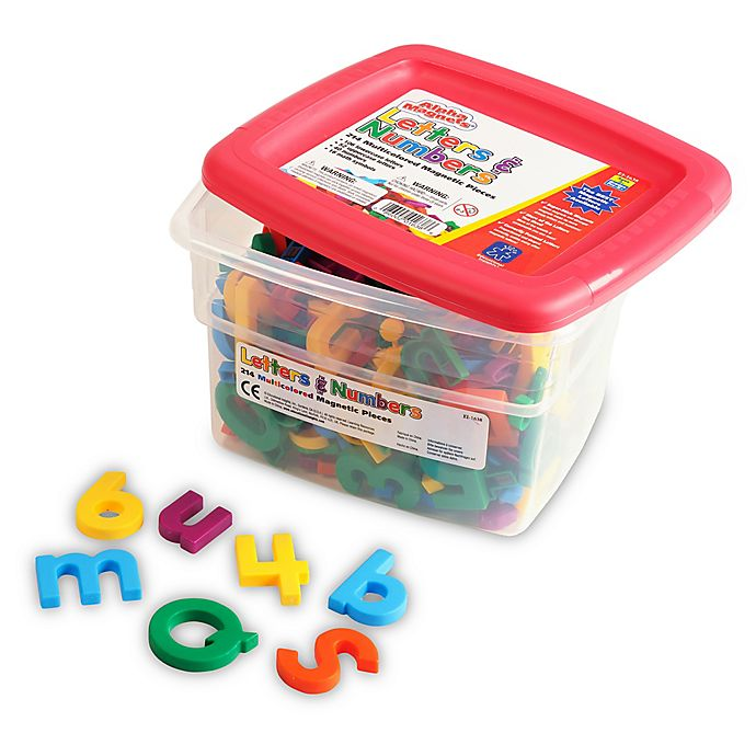 Alternate image 1 for Educational Insights® 218-Piece Multicolored Alphamagnets & Mathmagnets