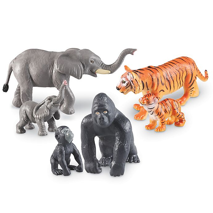 Alternate image 1 for Learning Resources® Jumbo Jungle Animals: Mommas and Babies