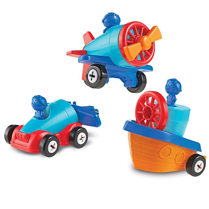Alternate image 1 for Learning Resources® 1-2-3 Build It™ Car-Plane-Boat