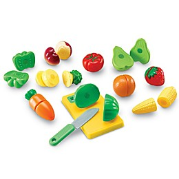 Learning Resources® Pretend & Play® 12-Piece Sliceable Fruits & Veggies Set