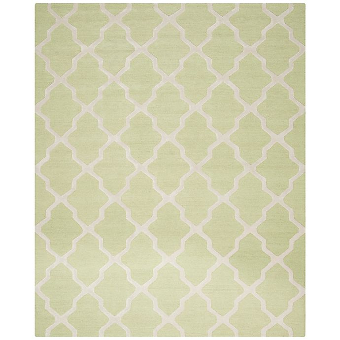 Alternate image 1 for Safavieh Cambridge 8-Foot x 10-Foot Quatrefoil Rug in Light Green/Ivory