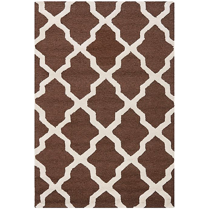 Alternate image 1 for Safavieh Cambridge 4-Foot x 6-Foot Quatrefoil Rug in Dark Brown/Ivory